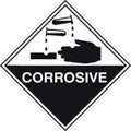 Corrosive (Self Adhesive Vinyl,100 X 100mm)