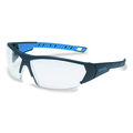 uvex i-works Anthracite/Blue Frame Clear Lens Spec