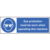 Eye Protection (Self Adhesive Vinyl,300 X 100mm)
