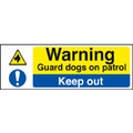 Guard Dogs On Patrol (polycarbonate,600 X 400mm)