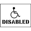 Stencil Kit - Disabled 300x400mm