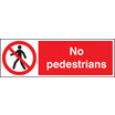 No Pedestrians (Rigid Plastic,400 X 300mm)