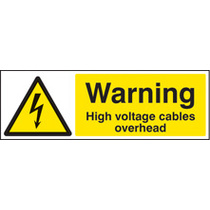 High Voltage Cables Overhead (Rigid Plastic,300 X 100mm)