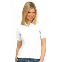 UC106 White Ladies Pique Polo Shirt