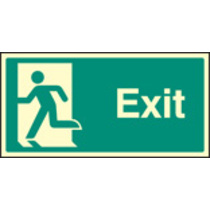 Exit - Left Symbol (Rigid Plastic,300 X 150mm)