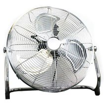 Chrome Electric Floor Fan 18