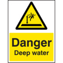 Danger Deep Water (Rigid Plastic,200 X 150mm)