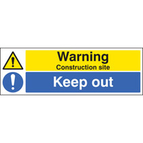Construction Site Keep Out (polycarbonate,600 X 400mm)
