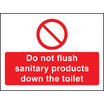 Do Not Flush Sanitary Products In Toilet (Self Adhesive Vinyl,100 X 75mm)