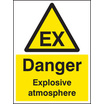 Danger Explosive Atmosphere Dsear (Self Adhesive Vinyl,400 X 300mm)