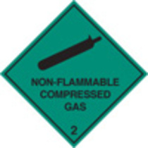 Non-flammable Compressed Gas 2 (Rigid Plastic,100 X 100mm)