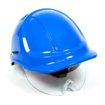 Safety Helmet c/w Retractable Eyeshield
