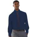 65118 Mens Long Sleeve Navy Poplin Shirt