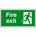 Final Fire Exit Right (Self Adhesive Vinyl,200 X 100mm) (22033X)