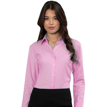 932F Ladies Long Sleeve Classic Pink Blouse