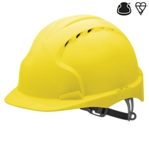 JSP EVO 2 Yellow Helmet with Slip Ratchet - Vented
