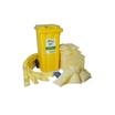 120 litre Superior chemical Spill Kit - mobile 2 wheeled bin