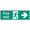 Fire Exit - Right (Self Adhesive Vinyl,450 X 150mm) (22004L) (22004L)