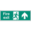 Fire Exit - Up (Rigid Plastic,300 X 100mm)