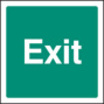 Exit (text Only) (Self Adhesive Vinyl,200 X 200mm) (22122F)