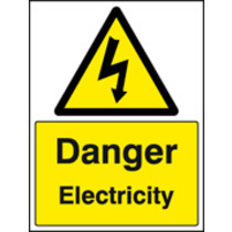 Danger Electricity (Self Adhesive Vinyl,400 X 300mm)