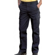 UC902 Black Cargo Trousers - Reg Leg